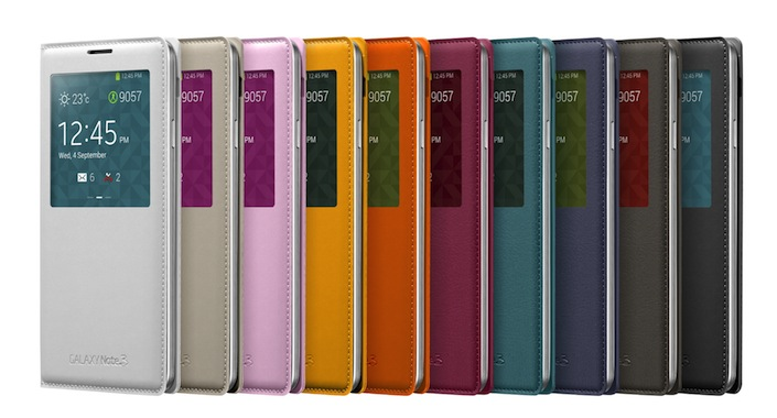 Galaxy Note3 S-view Cover 005 Front set