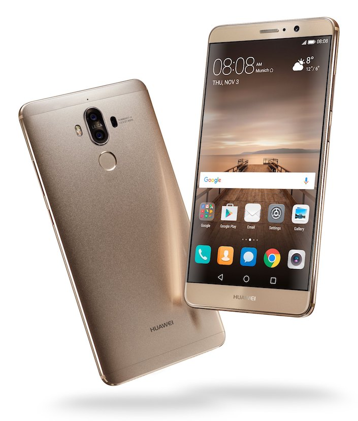 Huawei Mate 9 Champagne Gold Front  Back