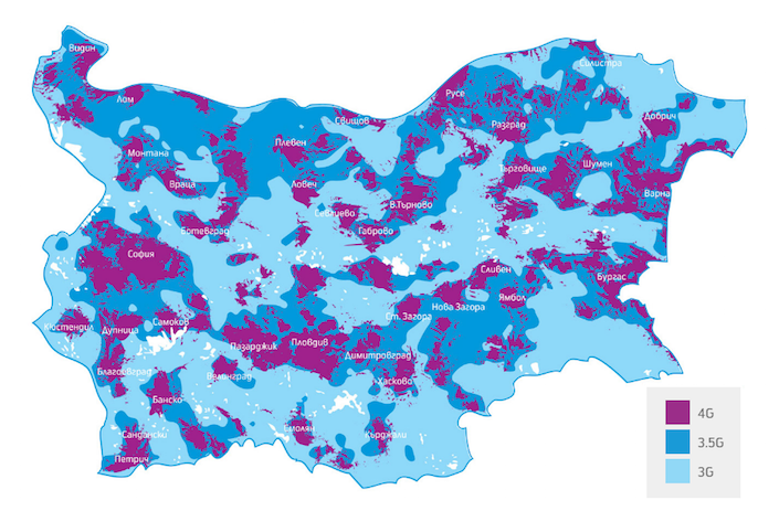 Telenor 4G-Coverage Map
