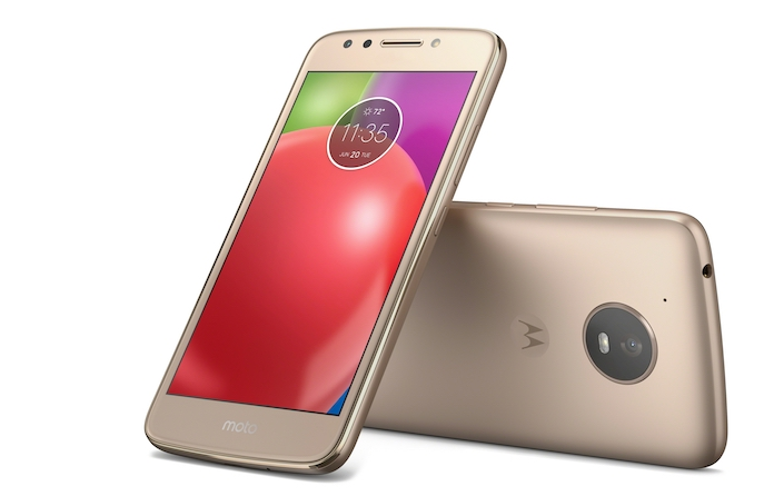 Moto E4 Fine Gold Front Back Without Fingerprint Sensor
