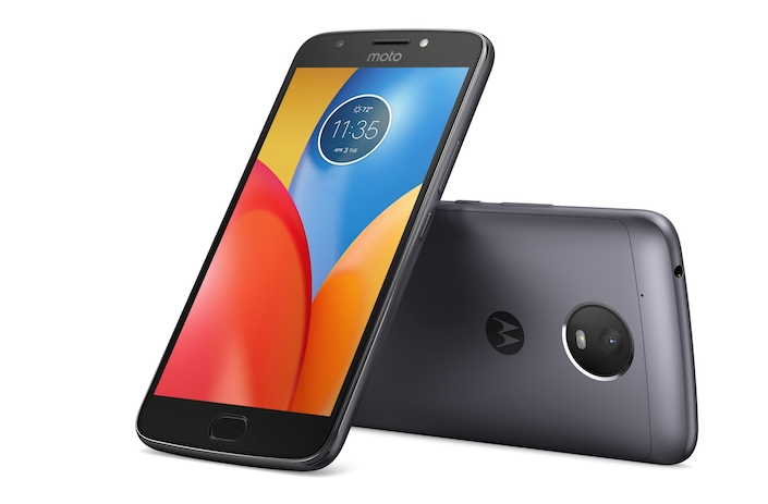 Moto E4 Plus Iron Gray Front Back
