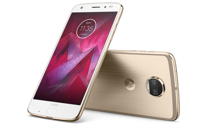 Moto Z2 Force Edition Front Back 2 Fine Gold