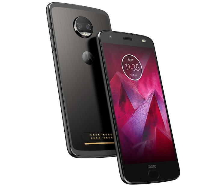 Moto Z2 Force Edition Front Back Super Black