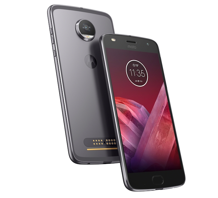 Moto Z2 Play FrontBack2 LunarGray