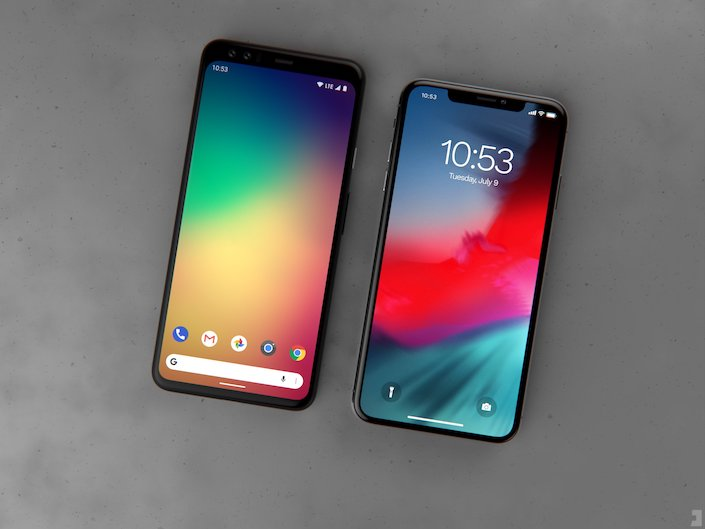 Google Pixel 4 XL vs Apple iPhone Xs Max
