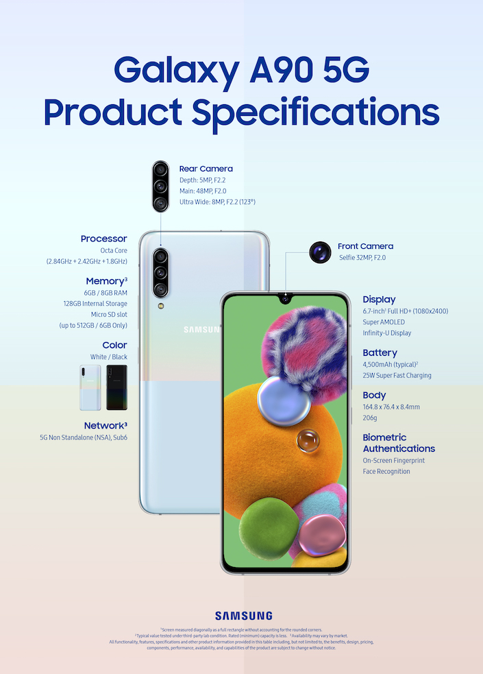 Galaxy A90-5G Product Specifications