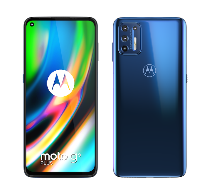 moto g9 plus NAVY BLUE FRONT and BACK