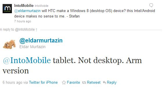 htc to make windows 8 tablet qualcomm arm chipset
