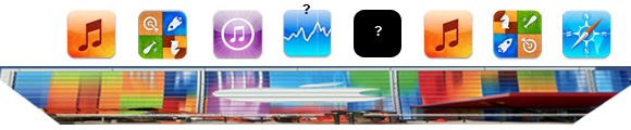 Stretched icons via macrumors