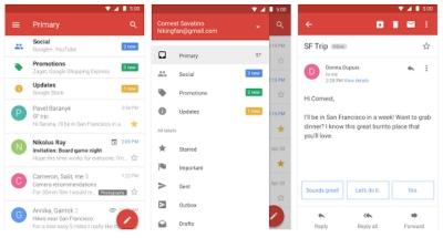 Версията Gmail Go е неотличима от стандартното приложение, но е два пъти по-лека