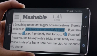 Samsung събра коментари против Apple в новата реклама на Galaxy Note 4