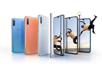 Samsung Galaxy A70 предлага огромен дисплей, предна и задна 32 МР камера
