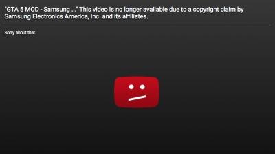 Samsung е свалила от YouTube видеото с избухващия Note 7 в играта GTA 5