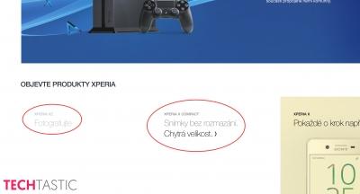 Xperia XZ и Xperia X Compact се появиха предпремиерно в сайта на Sony