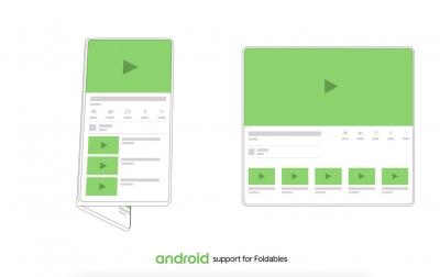 Android вече поддържа смартфорни със сгъваеми дисплеи