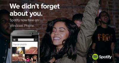 Spotify вече се предлага безплатно и за Windows Phone