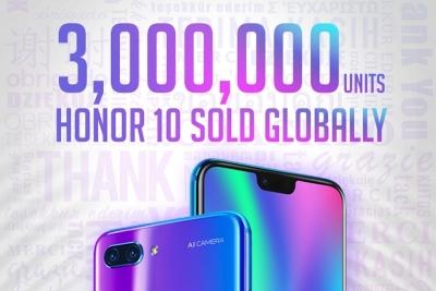 Продажбите на Honor 10 са прехвърлили 3 милиона бройки